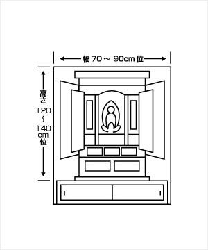半間地袋付仏間用仏壇