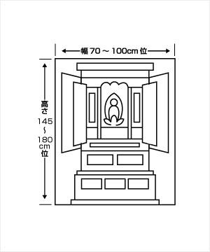 半間仏間用仏壇