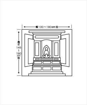 4R〜1間仏間用仏壇