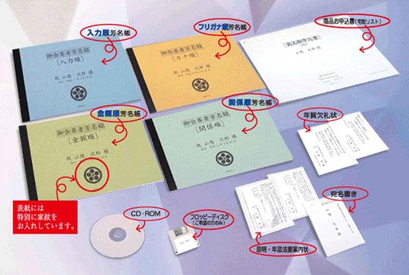 香典帳整理サービスの豊富な内容